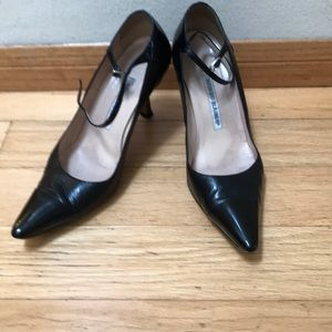 Black patent leather Manila Blahniks